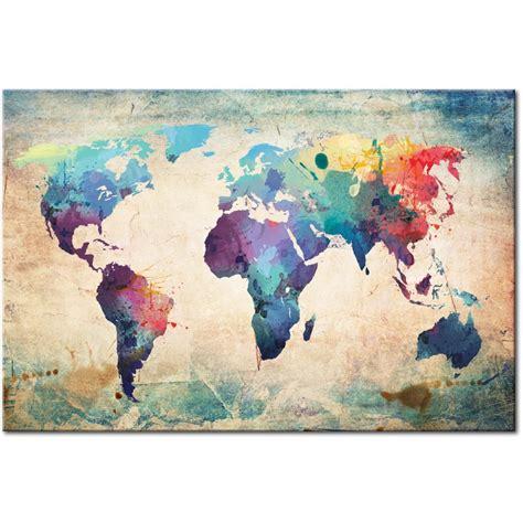 mapamundi decoracion cuadros mapamundi mapas decorativos sobre lienzo nuevos