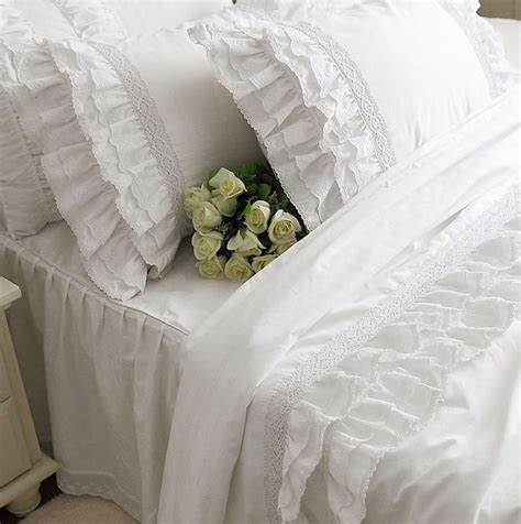 White Ruffle King Comforter by Ruffled White Bedding Reviews Shopping Ruffled