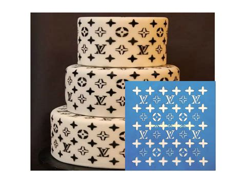 lv pattern for cake louis vuitton stencil 2 itacakes part 1