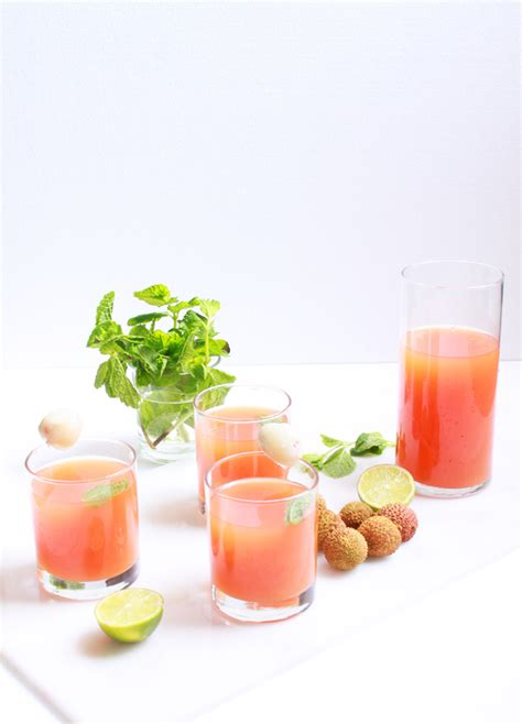 lychee cocktail lychee grapefruit cocktail recipes