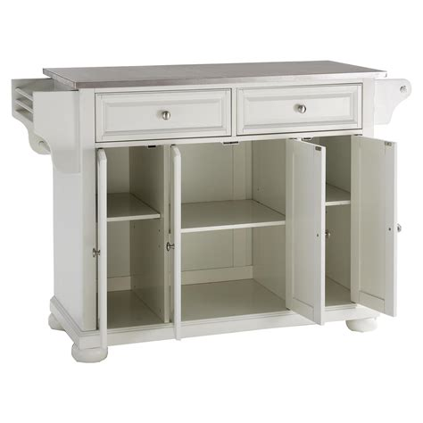 steel top kitchen island alexandria stainless steel top kitchen island white dcg stores