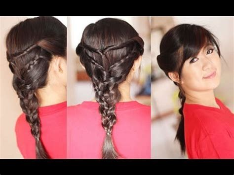 braid hairstyles for school youtube back to school hairstyle twists triple braided hairstyles