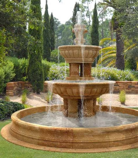 Backyard Water Ideas by Water Fountains Front Yard And Backyard Designs