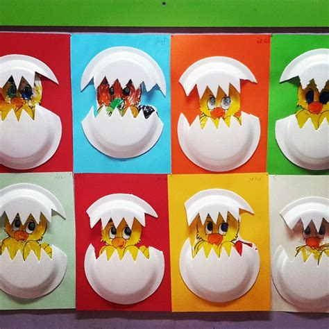Paper Plate Chicken Craft - crafts actvities and worksheets for preschool toddler and