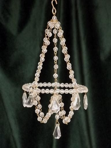 mini crystal chandelier ornaments glass bead chandeliers