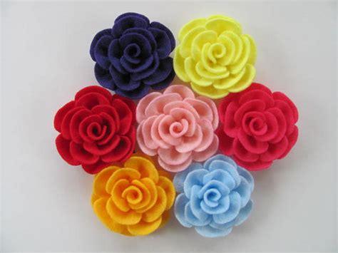 pattern for making felt flowers flower tutorial tiffany rose no sew felt flower by