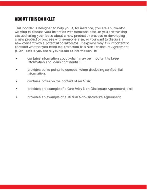 patent non disclosure agreement template non disclosure agreements free