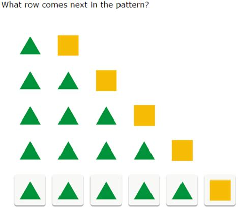 growing pattern using shapes ixl find the next row in a growing pattern of shapes