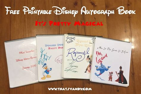 disney world autograph book template disney autograph book free printable that s vandy