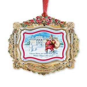 2011 white house christmas ornament santa visits the