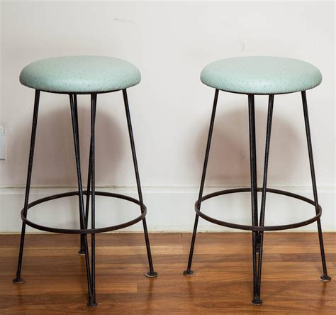 mint green counter stools set of six wrought iron bar stools with mint green ostrich
