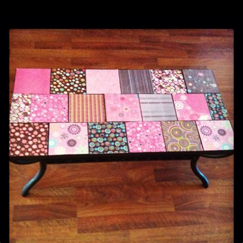 Decoupage Furniture With Scrapbook Paper - 46 best living room office images on for the