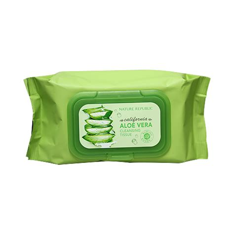 Aritaum Cotton Pads 80pcs nature republic california aloe vera cleansing tissue