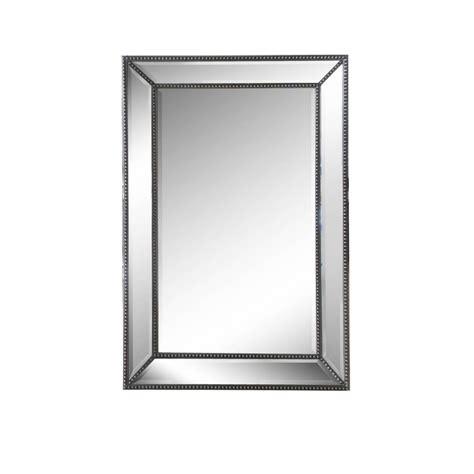 beaded wall mirror silver beaded mirror