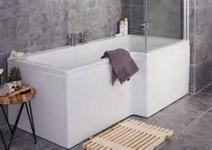 baths shower baths amp corner baths diy at b amp q 1700mm straight shower bath avon vanity unit amp toilet