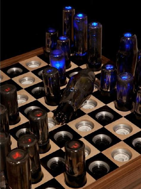 futuristic chess set glowing endorsement retrofuturistic tesla chess set