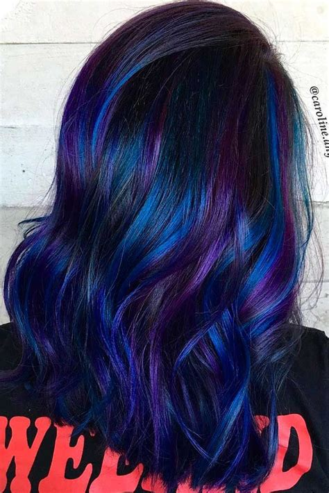purple blue color 17 best ideas about blue hair on navy