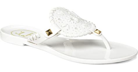 rogers jelly sandals rogers miss georgica jelly sandal in white lyst