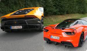 exhaust battle 488 gtb vs lamborghini huracan