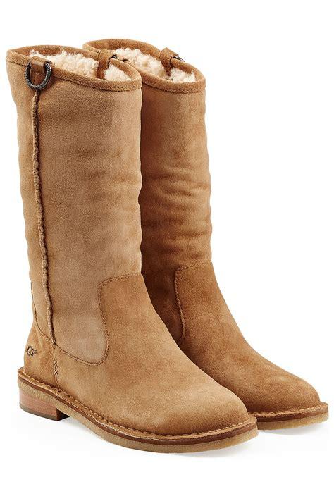 ugg sheepskin boots in brown lyst