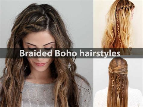 Boho Hairstyles For Hair by Braided Boho Hairstyles Hairstyle For