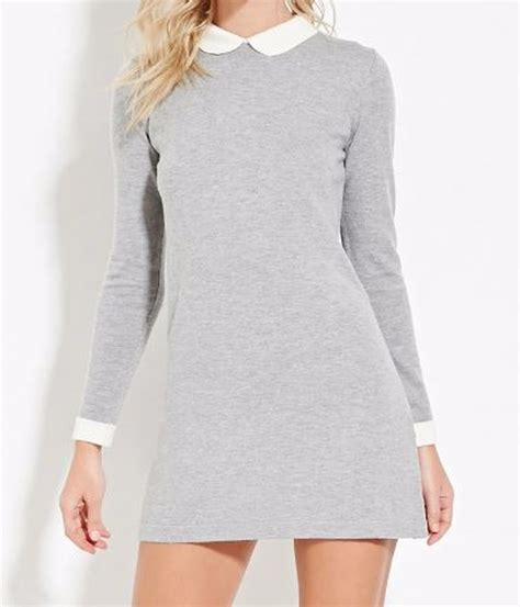 7 Neat Reasons For Wearing Forever21 by Davis S Gray Forever 21 Collared Wool Blend Dress