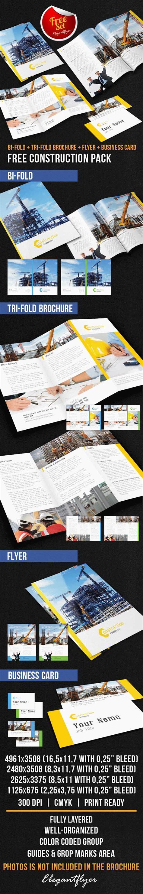 Construction Brochure Template by Construction Brochure Pack Free Psd Template By