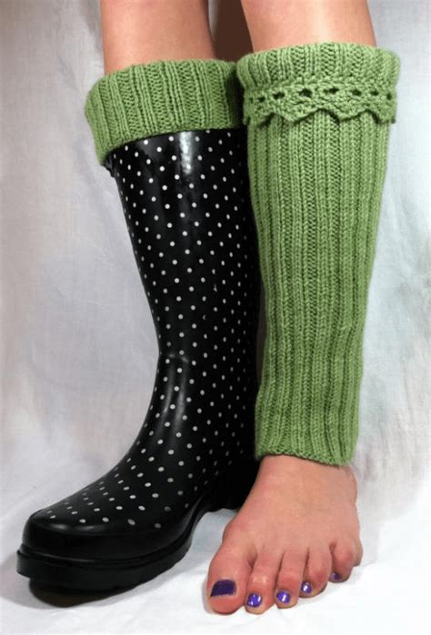 boot liners or boot toppers knitting