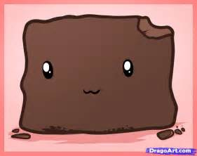 how to draw a brownie brownie step by step food pop
