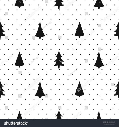 christmas pattern lines black white simple seamless christmas pattern stock vector
