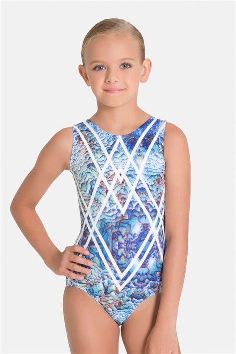 blue haven leotard gymnastics wear  sylvia p