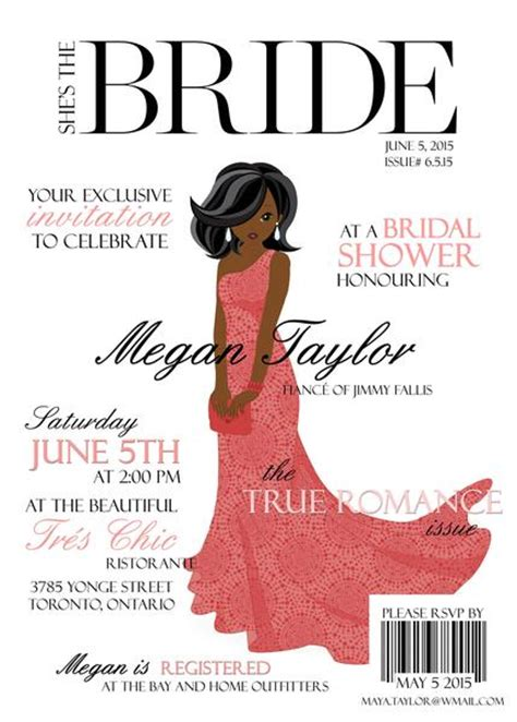 in style magazine customer service high fashion magazine cover themed bridal shower