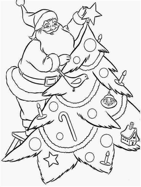christmas tree and santa coloring pages navishta sketch santaclaus christmas special
