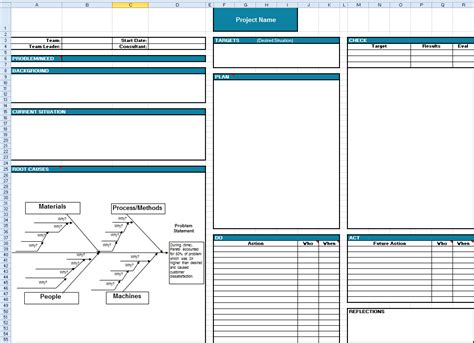 Toyota A3 Report A3 Report Template In Excel A3 Template Excel