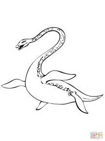 nessie loch ness lake monster coloring page free