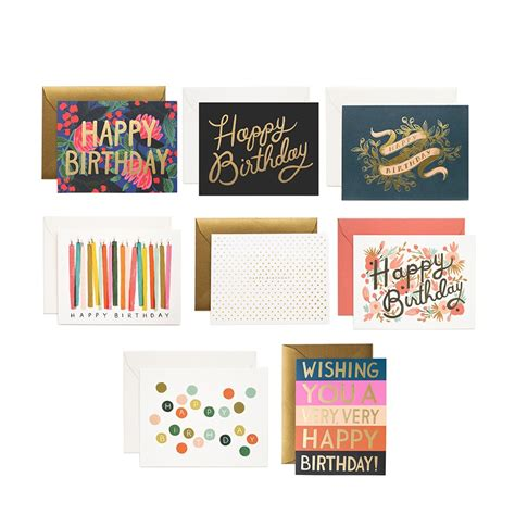 Happy Birthday Card Set rifle paper co birchbox exclusive happy birthday card set