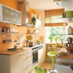 Kitchen color schemes orange kitchen walls and blue orange kitchen