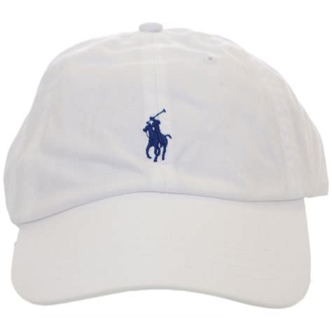 polo ralph white polo player baseball cap polo