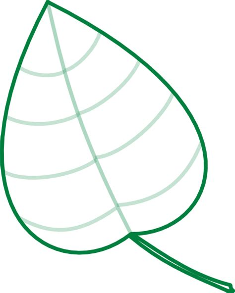 Green Leaf Outline Png by Leafgreen Clip At Clker Vector Clip Royalty Free Domain
