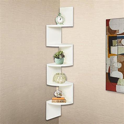 Wall Shelves,Swyss Stackable 5 Tiers Corner Wall Shelf Zig