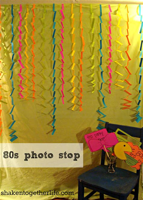 80s Theme Decorations by 80s Big Reveal Tons Of 80s Ideas