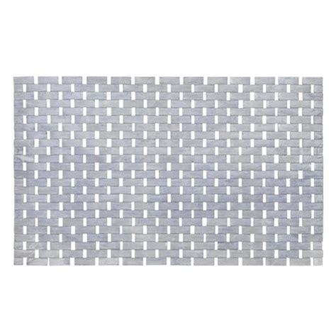 grey and white bath rug wenko bamboo 50 x 80cm bath mat grey plumbing co uk