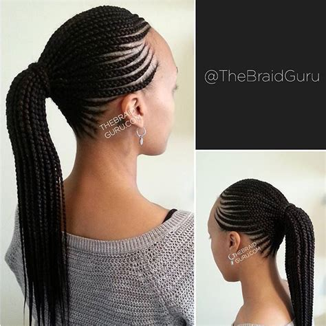 african braids hairstyles pictures ponytail so neat and beautiful all things hair pinterest