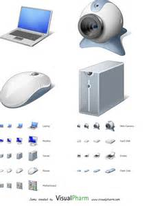 computer hardware windows 7 icons designed by visualpharm