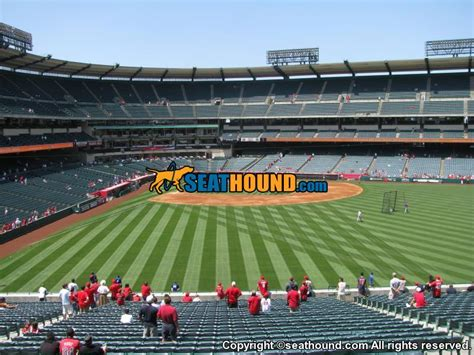 section 245 a angel stadium section 245 right field pavilion seating