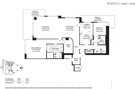 asia brickell key floor plans