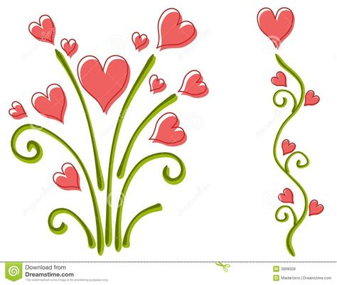 flowers for valentines day gallery for gt hearts and flowers clipart
