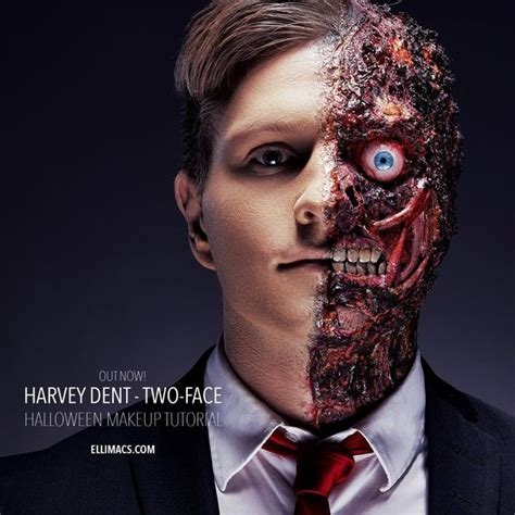 harvey dent two face sfx makeup tutorial with pictures
