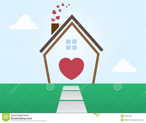 love is a house house outline love stock photo image 25497350