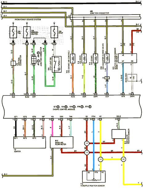 toyota mass air flow sensor wiring diagram efcaviation